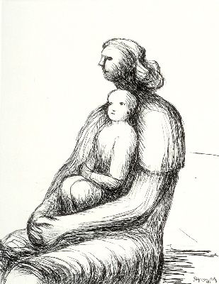 Gravure Moore - Mother and Child XXVII