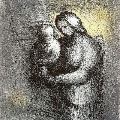 Eau-Forte Et Aquatinte Moore - Mother & Child I