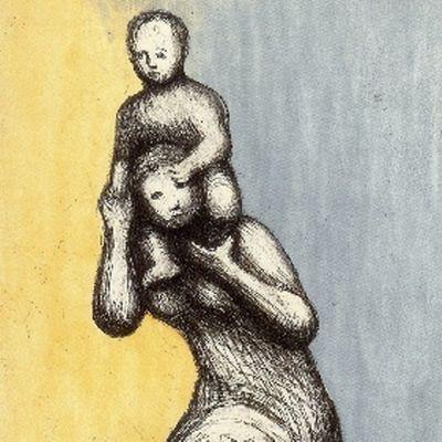 Eau-Forte Et Aquatinte Moore - Mother & Child VIII