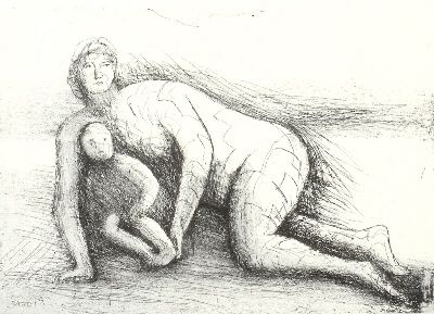 Eau-Forte Et Aquatinte Moore - Mother & Child XXIV