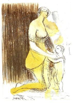 Gravure Moore - MOTHER & CHILD XXVI,1983