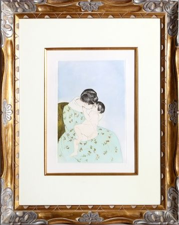 Gravure Cassatt - Mother's Kiss