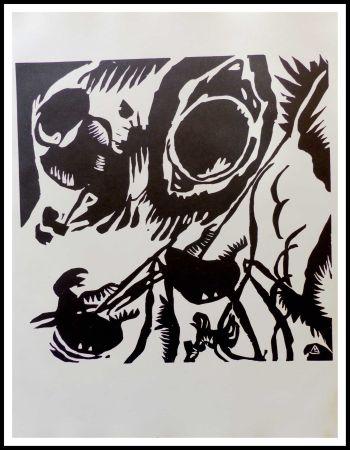 Gravure Sur Bois Kandinsky - MOTIV AUS IMPROVISATION - Jardin de l'amour
