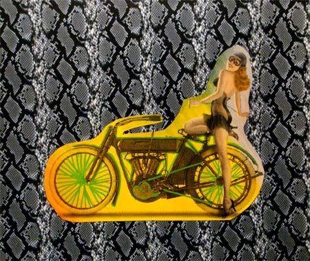 Sérigraphie Kaufman - Motorbike on Snakeskin