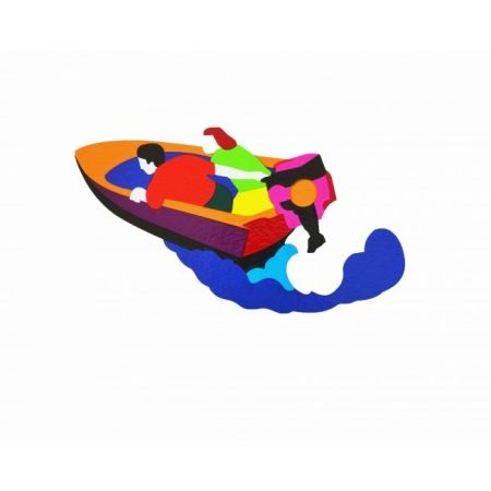 Sérigraphie Lodola - Motorboat