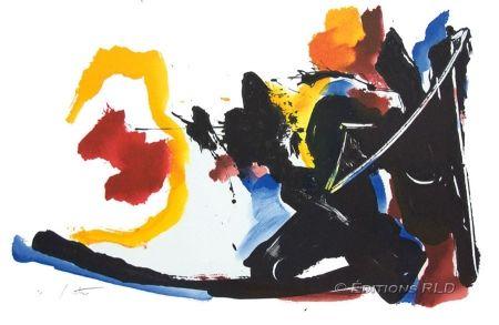 Lithographie Miotte - Mouvement