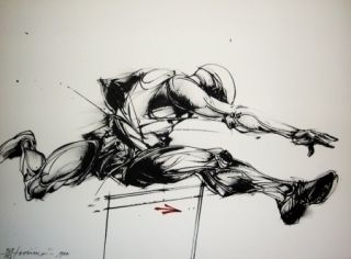 Lithographie Velickovic - Mouvement