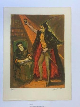 Lithographie Blatas - Moyen age