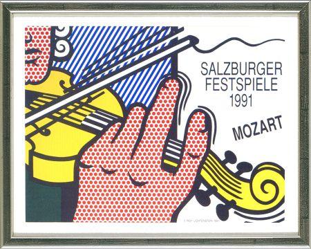 Lithographie Lichtenstein - Mozart - Salzburg