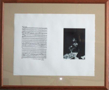Gravure Dado - Mozart la partition
