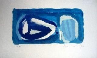 Lithographie Van Velde - MP 129 - Le Bleu