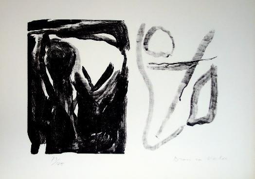 Lithographie Van Velde - MP 16