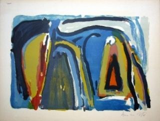 Lithographie Van Velde - MP 209