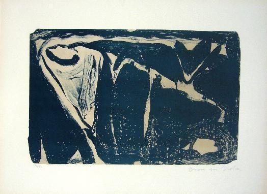 Lithographie Van Velde - MP 25