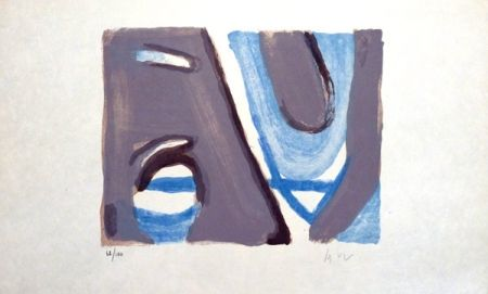 Lithographie Van Velde - MP 397