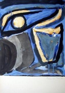 Lithographie Van Velde - MP 65 - Musée national d'art moderne