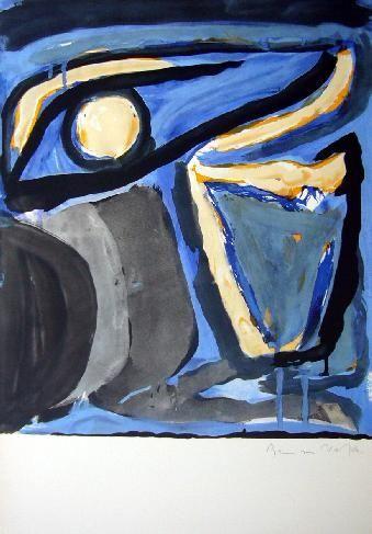 Lithographie Van Velde - MP 65 -Musée national d'Art moderne