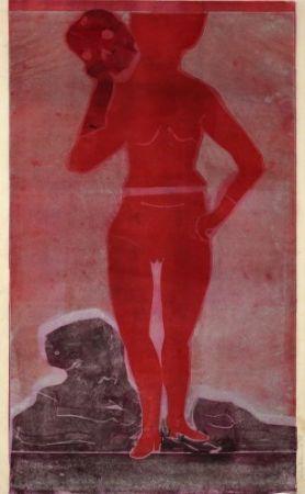 Monotype Ikemura  - Muchacha con la muerte 2