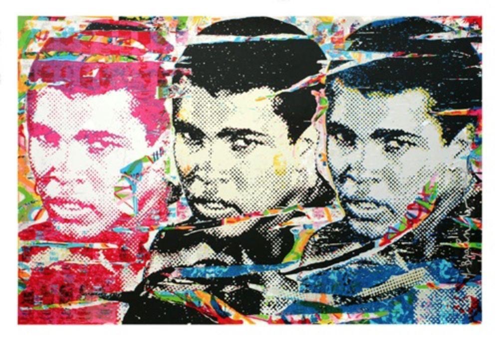 Sérigraphie Mr Brainwash - Muhammad Ali – The Champ