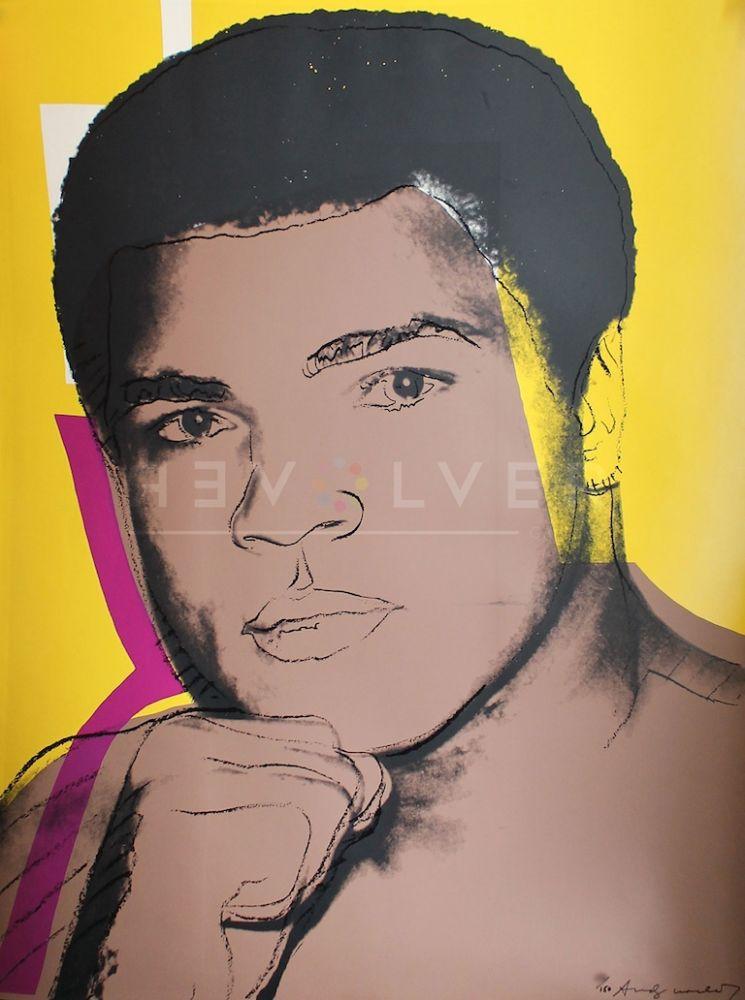 Sérigraphie Warhol - Muhammad Ali, Yellow (FS II.182)