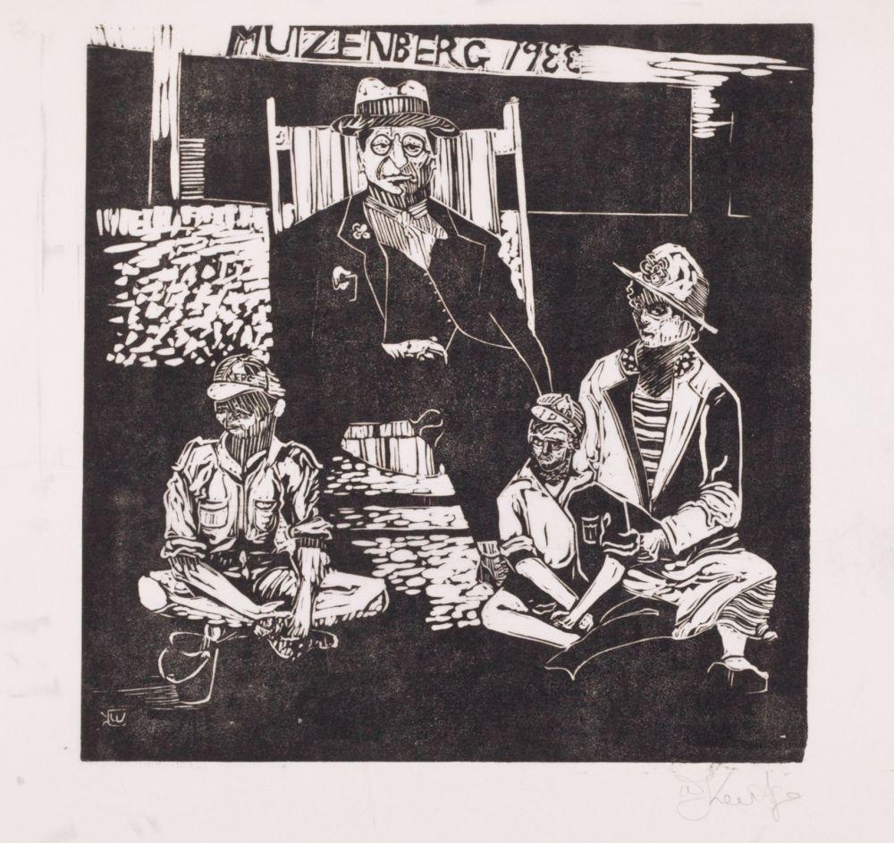 Linogravure Kentridge - Muizenberg 1933