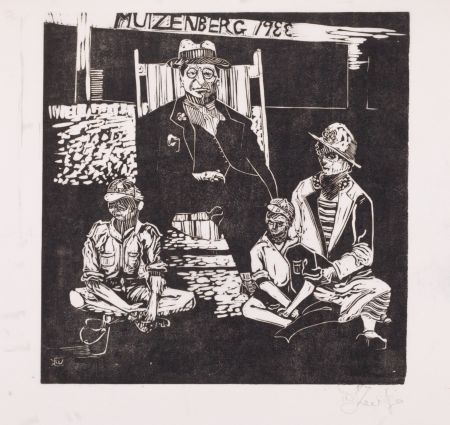 Linogravure Kentridge - Muizenberg 1933