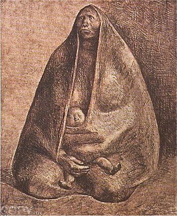 Lithographie Zuniga - Mujer con Nino