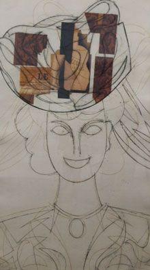 Eau-Forte Valdés - Mujer con sombrero