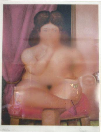 Lithographie Botero - Mujer fumando