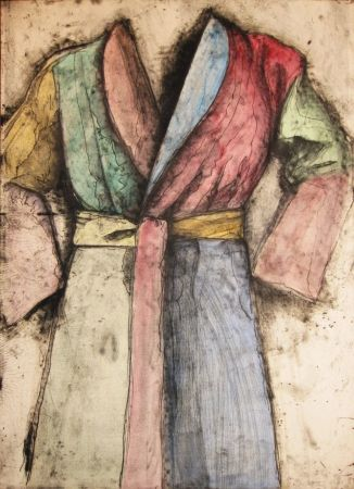 Lithographie Dine - Multicolored Robe