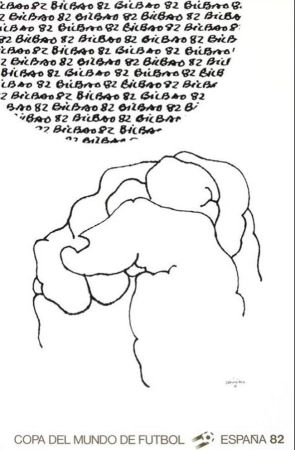 Lithographie Chillida - '' Mundial 1982 ''