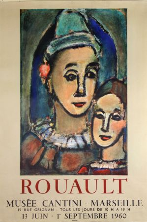 Lithographie Rouault - Musée  Cantini