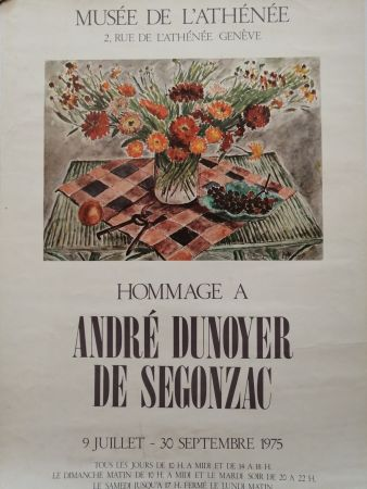 Affiche De Segonzac - Musée de l'Athénée - Genève