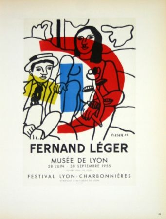 Lithographie Leger - Musée de Lyon  1955