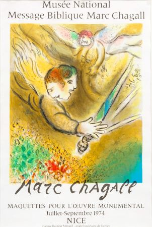 Lithographie Chagall - Musée National, 1974