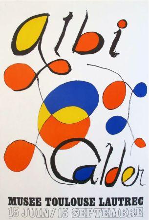Lithographie Calder - '' Musée Toulouse Lautrec ''