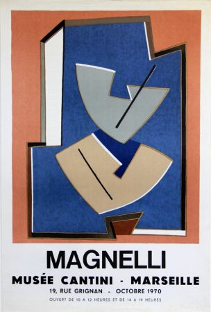 Lithographie Magnelli - Musee Cantini  Marseille