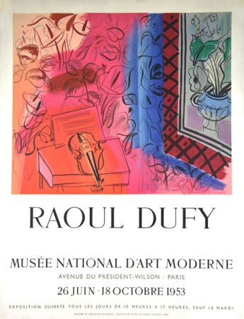 Lithographie Dufy - Musee  D'Art Moderne 1953