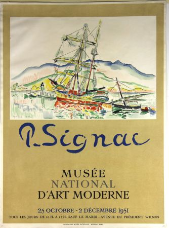 Lithographie Signac - Musee National d'Art Moderne