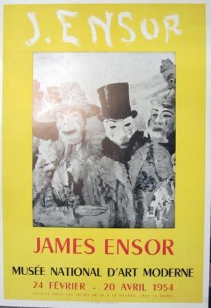 Lithographie Ensor - Musee Natonal D'Art Moderne