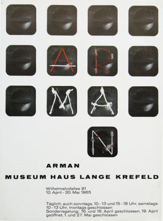 Affiche Arman - '' Museum Haus Lange ''  Krefeld