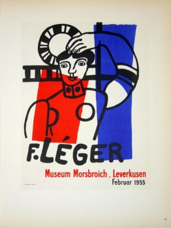 Lithographie Leger - Museum  Morsbroich  - Leverkussen 1955