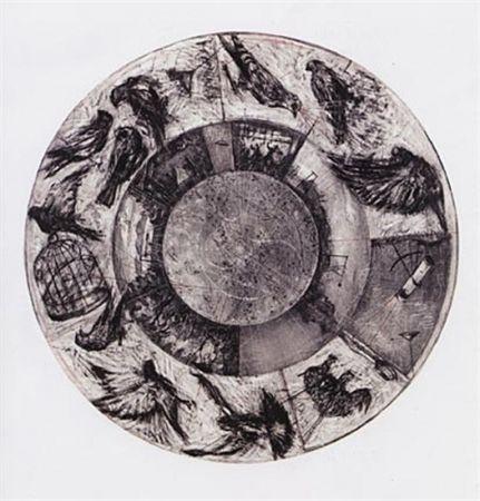 Lithographie Kentridge - Music Box Tondo