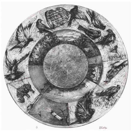 Sérigraphie Kentridge - Music Box Tondo