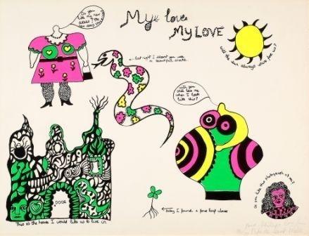 Sérigraphie De Saint Phalle - My love my love