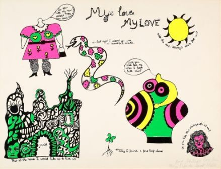 Sérigraphie De Saint Phalle - My love,my love