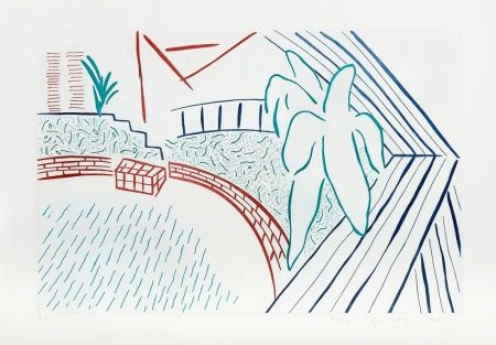 Eau-Forte Hockney - My Pool and Terrace