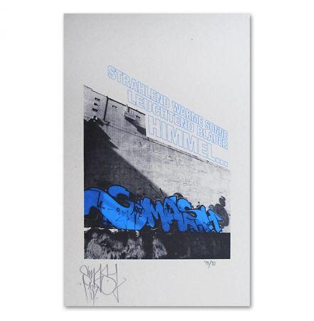 Sérigraphie Falkner - My Space blue