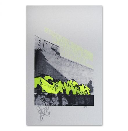 Sérigraphie Falkner - My Space yellow
