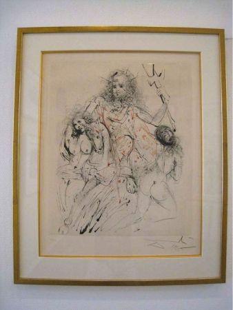 Gravure Dali - Mythologie: Poseidon